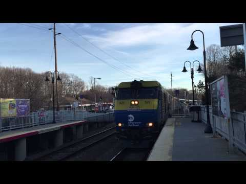 LIRR Port Jeff-Penn Station Train #615 arrives at Stony Brook 3/16/15
