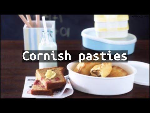 Recipe Cornish pasties