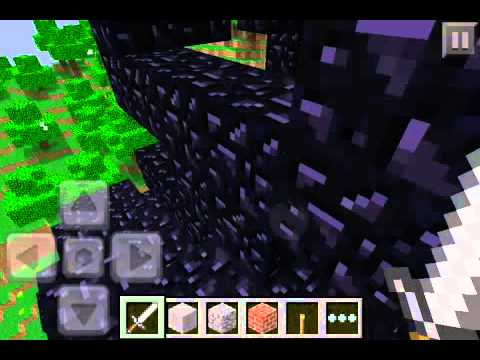 Zombies and Creeper on Minecraft PE Creative