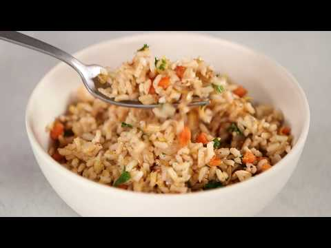 Parslied Brown Rice Pilaf | Cooking Light