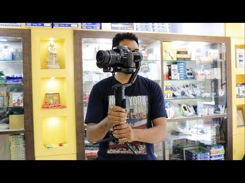Zhiyun crane 2 unboxing And camera test Shooting in Marathi Tutorial