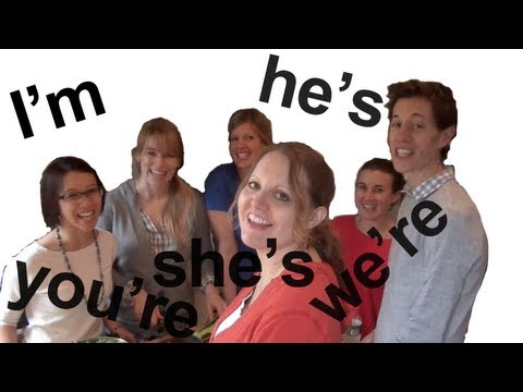 TO BE Contractions -- American English Pronunciation