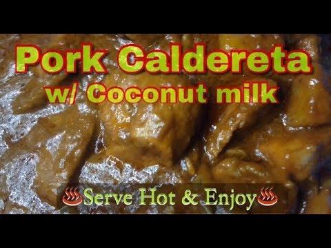 Pork Caldereta with coconut Milk