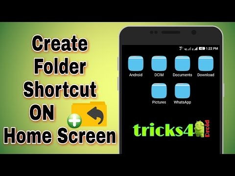How To Create A Folder Shortcut On Home Screen