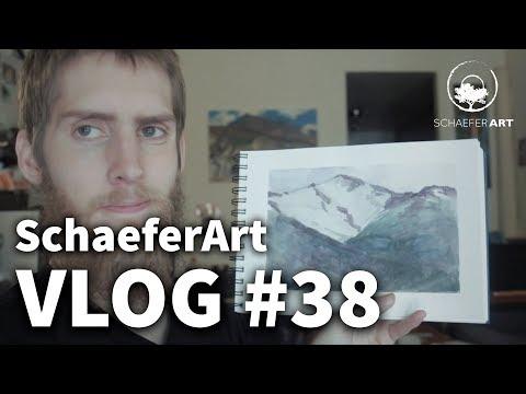 Vlog #38 - Watercolors from Alaska Trip