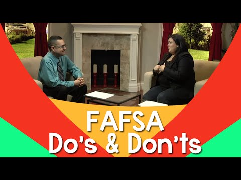 Financial Aid Application: FAFSA do's and don'ts – JessicaDominguezTV