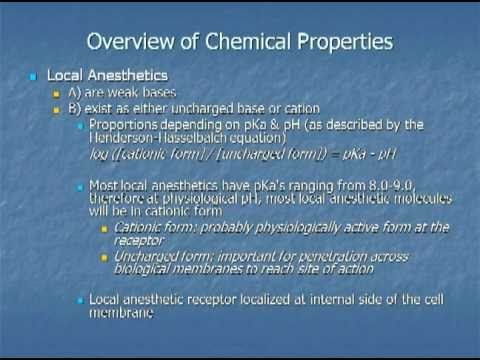 Local Anesthetics: Pharmacology and Toxicity