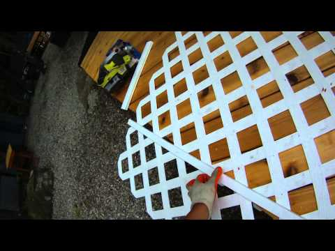 Deck Building - P4 - How to Install Lattice on a Deck