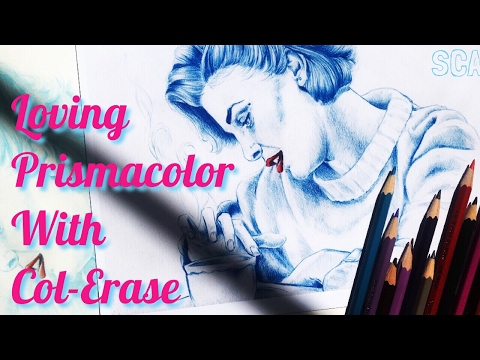 Falling In Love With PRISMACOLOR COLORED PENCILS Again (Col-Erase Pencils Review & More)