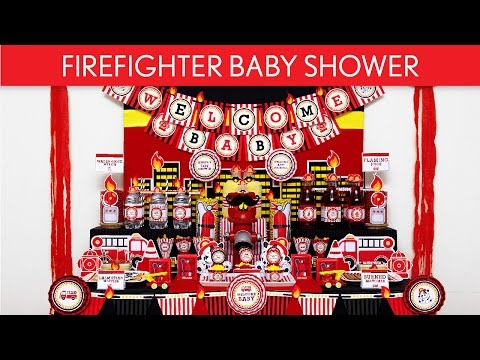 FireFighter Baby Shower Party Ideas // FireFighter - S39
