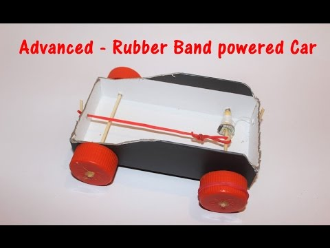 How to Make a Thread and Rubber Band Powered Car - ADVANCED - Project for Children's