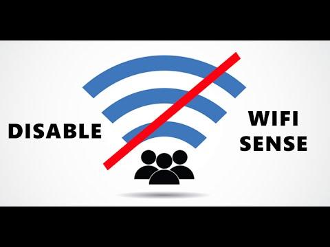How to disable Wifi Sense on Windows 10