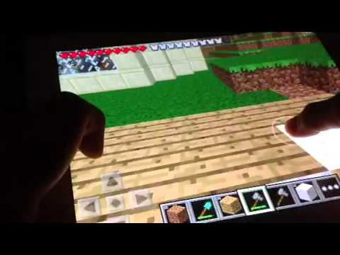 Let's Play Minecraft PE:Episode 3-Basketball Court (Part 1)