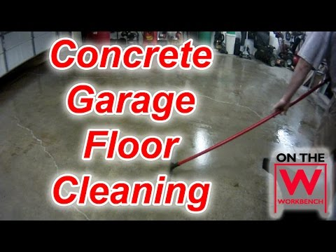 Cleaning & Degreasing a Concrete Garage Floor