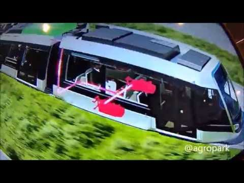 Super Capacitor Airport Tramway Nice France 2018   no battery !