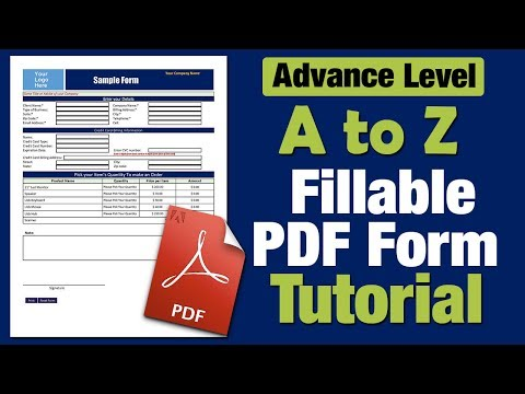 How to Create a Fillable PDF form - step by step Tutorial