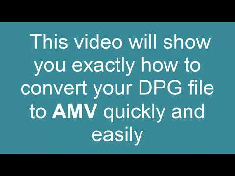 How to convert DPG to AMV