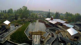Timber Falls front seat on-ride HD POV Calaway Park