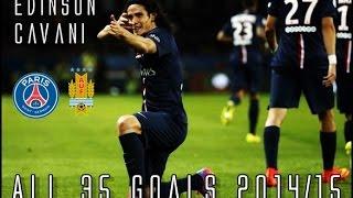 Edinson Cavani // All 35 Goals for PSG & Uruguay 2014/15
