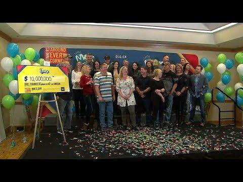 'Count those zeros': 26 friends win $10M Lotto Max jackpot