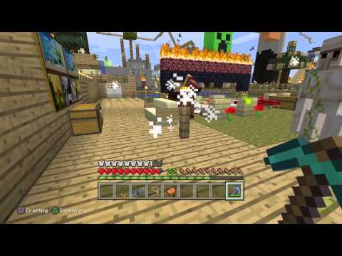 Minecraft Ps3 - how to tame a horse #1