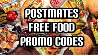 POSTMATES Free food promo codes  | run deal | 😱😱😱