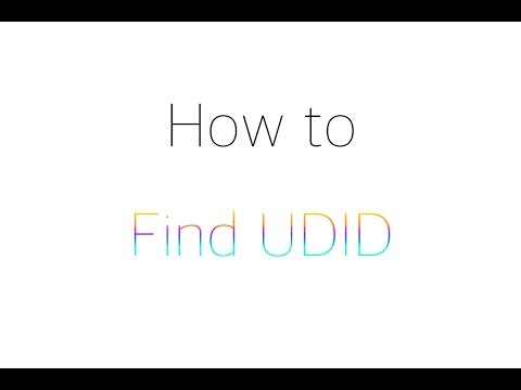 How to find your UDID for IOS 9 beta