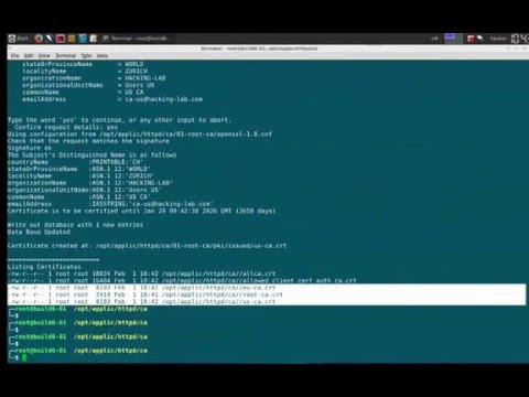 client cert authentication apache web server with Root CA and two Sub CA's and easyrsa3