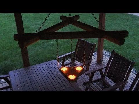 Závěsný svícen / Hanging a wooden candleholder