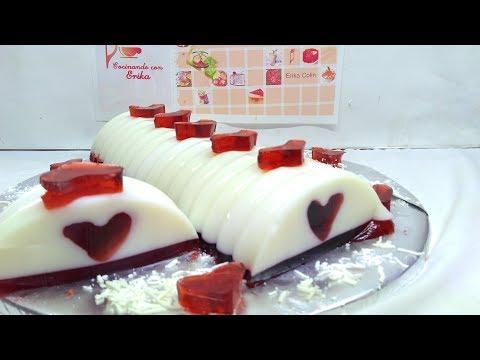GELATINA DE CORAZON SECRETO 3 ingredientes San Valentín