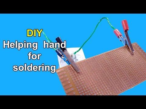 DIY soldering helping hand