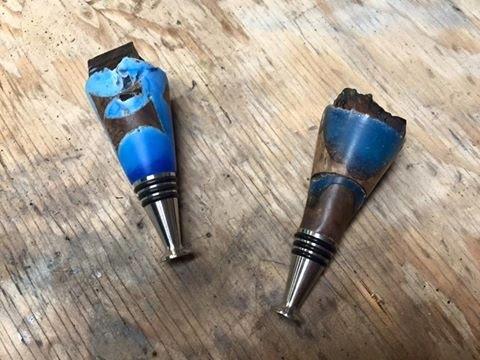 Hybrid Bottle Stopper Blanks Without a Pressure Pot!
