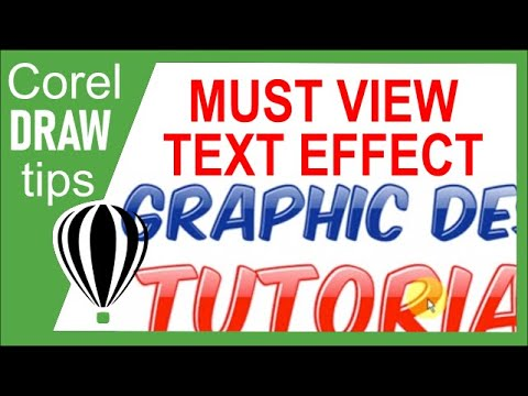 Simple text effect with highlights in CorelDraw