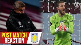 Ole Gunnar Solskjaer & David De Gea react to Reds win | Aston Villa 0-3 Manchester United