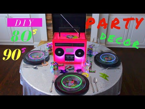 DIY 80s PARTY DECORATIONS | DIY 90s PARTY IDEAS | DIY BOOMBOX CENTERPIECE