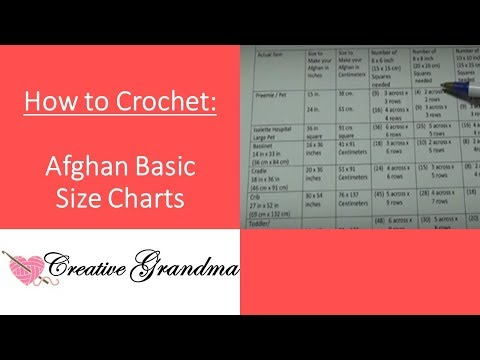 Basic Size Charts For Afghans! How Many Squares To Make Afghan (FREE CHARTS)