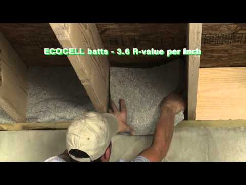 ECOCELL batt and blanket insulation