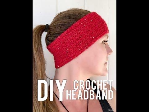 DIY Crochet Sparkle Motion Headband/Ear Warmer Crochet Tutorial