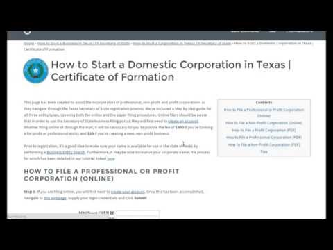 How to Start a Corporation in Texas | TX Secretary of State
