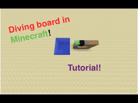 Minecraft - How to build a diving board