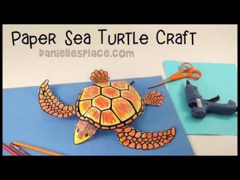 Sea Turtle Paper Craft