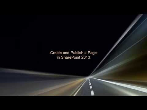 Create and Publish a Page in SharePoint 2013