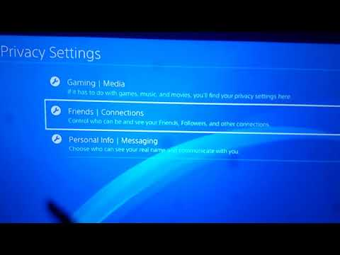 How to make your ps4 account private