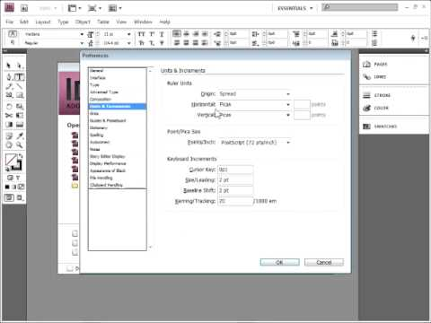 Setting Default Units in Adobe InDesign