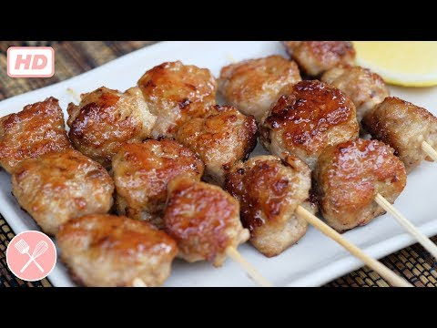 How to make Homemade Grilled Chicken Meatballs (video)