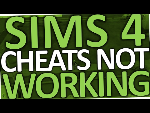 Sims 4 CHEATS NOT WORKING (PC Fix)