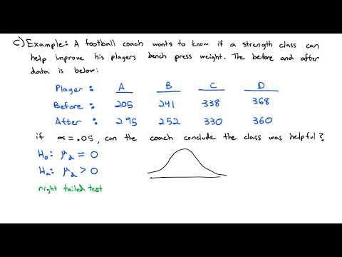 3.8 Hypothesis Testing for Matched Pairs