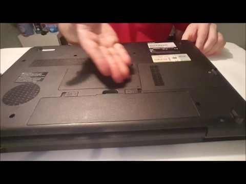 Remove/Insert Battery, Drive, and RAM from Toshiba Laptop
