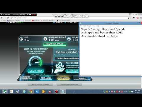 Nepal's Average Download Speed