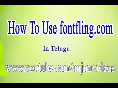 How to download fonts with fontfling.com In Telugu